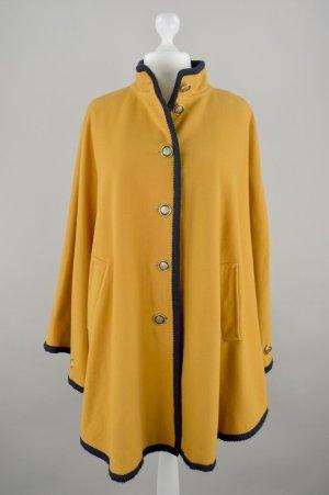Poncho Mantel gelb Größe XL