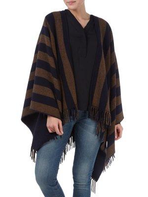 Max Mara Veste gris brun-bleu foncé laine