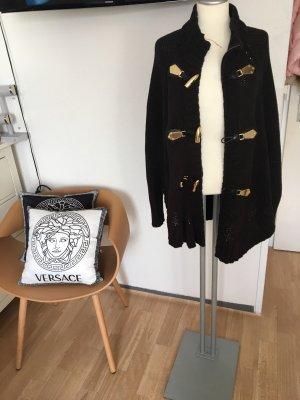 Michael Kors Poncho de punto negro-color oro