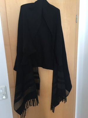 Made in Italy Poncho zwart
