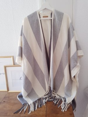 H&M Poncho grijs-wolwit