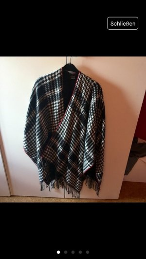 Poncho mit Hahnentrittmuster