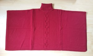 Alice by Temperley Poncho dark red cotton