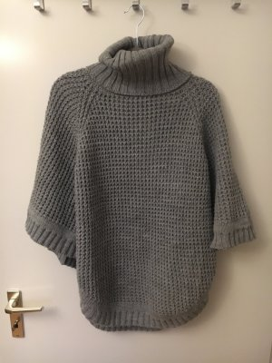 Pieces Poncho grey
