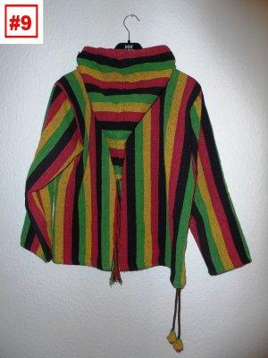 Poncho Pulli für Herren und Damen hippie rasta jamaika reggae bob marley