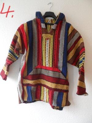 Poncho Pulli für Herren und Damen hippie retro vintage reggae oldschool