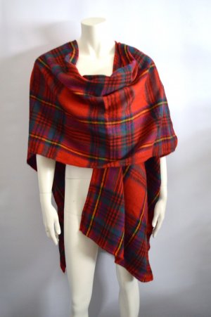 Poncho multicolored wool