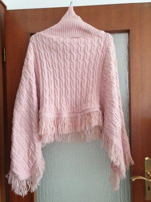 Poncho rosa pallido