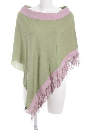 Poncho rose-vert gazon style hippie
