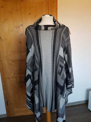 Only Poncho negro-gris