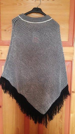 Poncho  Schwarz-Weiß