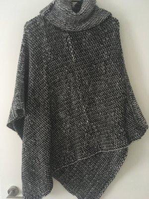 Poncho zwart-wit Acryl