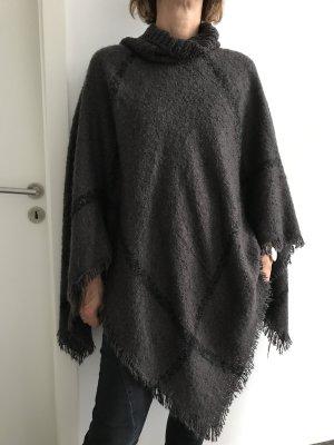 Soyaconcept Poncho antraciet-zwart