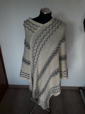 Soyaconcept Poncho bianco-grigio chiaro