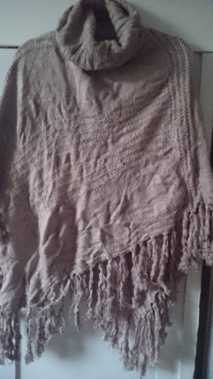 Poncho taupe-light brown