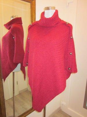 Poncho in maglia multicolore