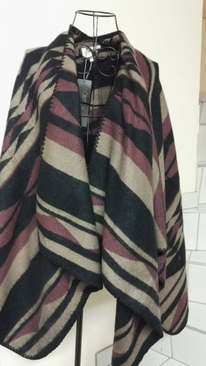 Cartoon Poncho multicolore