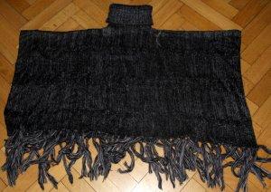Poncho black-anthracite polyacrylic