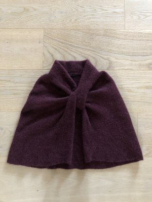 COS Poncho en tricot violet