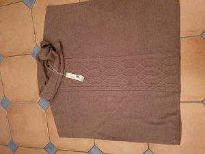 Esprit Poncho de punto marrón arena-marrón