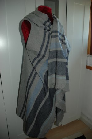 M&S Poncho gris claro-azul acero