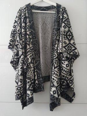 Zara Trafaluc Poncho negro-gris