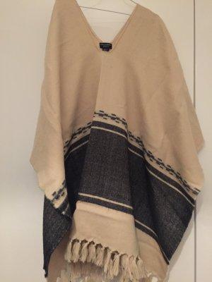 Poncho ZARA beige, Größe M, weich und angenehm zu tragen