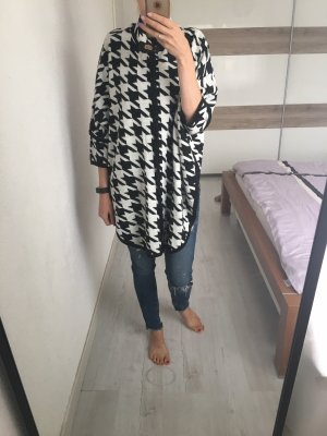 Jake*s Poncho white-black