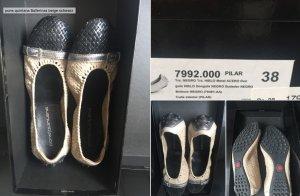 pons quintana Ballerina beige schwarz 38