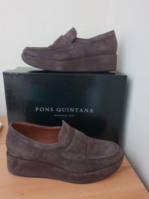 Pons Quintana Mocassins gris brun
