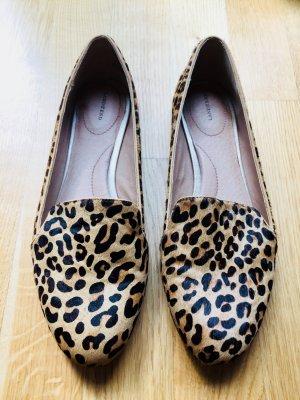 Ponyfell Loafers Leopardenoptik, Gr. 41
