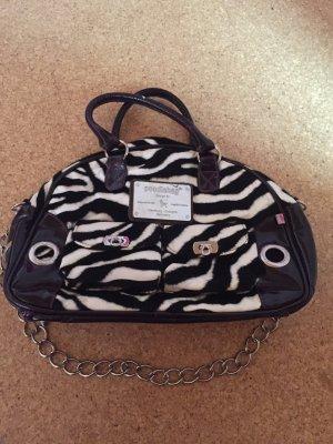 Poodlebag Handtasche lila Zebra