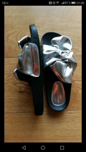 Zara Sabots light grey-black