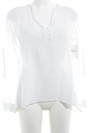 Poolgirl Langarm-Bluse weiß Casual-Look