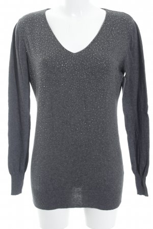 Poolgirl Oversized Sweater grey-silver-colored glittery
