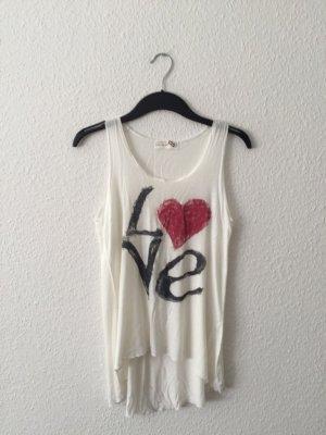 Poolgirl Tanktop XS creme LOVE-Print