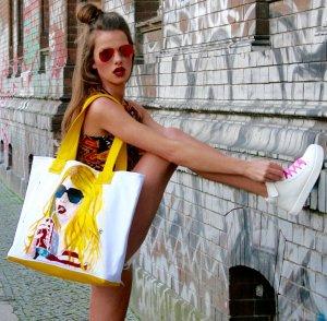 Pop Art Shopping Bag direkt von der Künstlerin!
