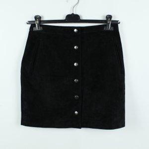 pop cph Falda de cuero negro Gamuza