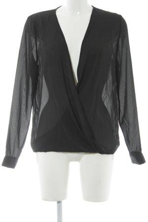 pop cph Langarm-Bluse schwarz Elegant