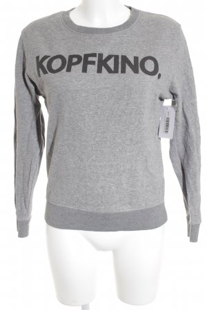 pop rocky Sweat Shirt light grey-anthracite printed lettering casual look