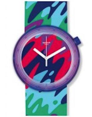 POP Swatch mit Camouflage-Muster