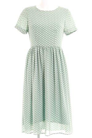 Poppy Lux A Line Dress mint-white spot pattern '50s style