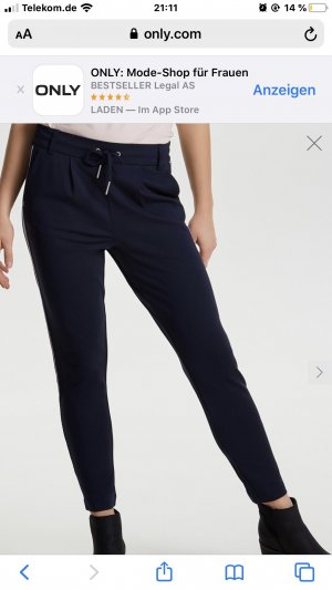 Only 7/8 Length Trousers black