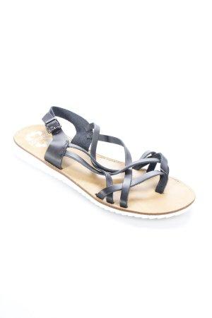 Porronet Riemchen-Sandalen schwarz-weiß