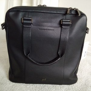 Porsche Design Tote black leather
