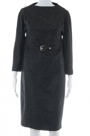 Porsche Design Langarmkleid schwarz meliert Business-Look