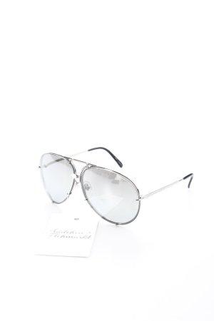 Porsche Design Pilot Brille silberfarben-grau Retro-Look