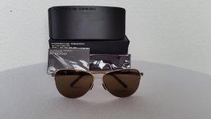 Porsche Design Pilotenbril donkerbruin-goud Metaal