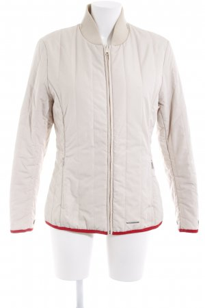 Porsche Design Steppjacke creme-rot Casual-Look