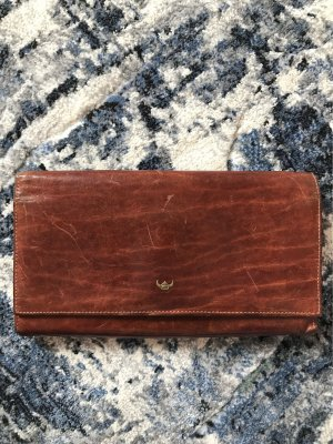 Golden Head Wallet cognac-coloured leather